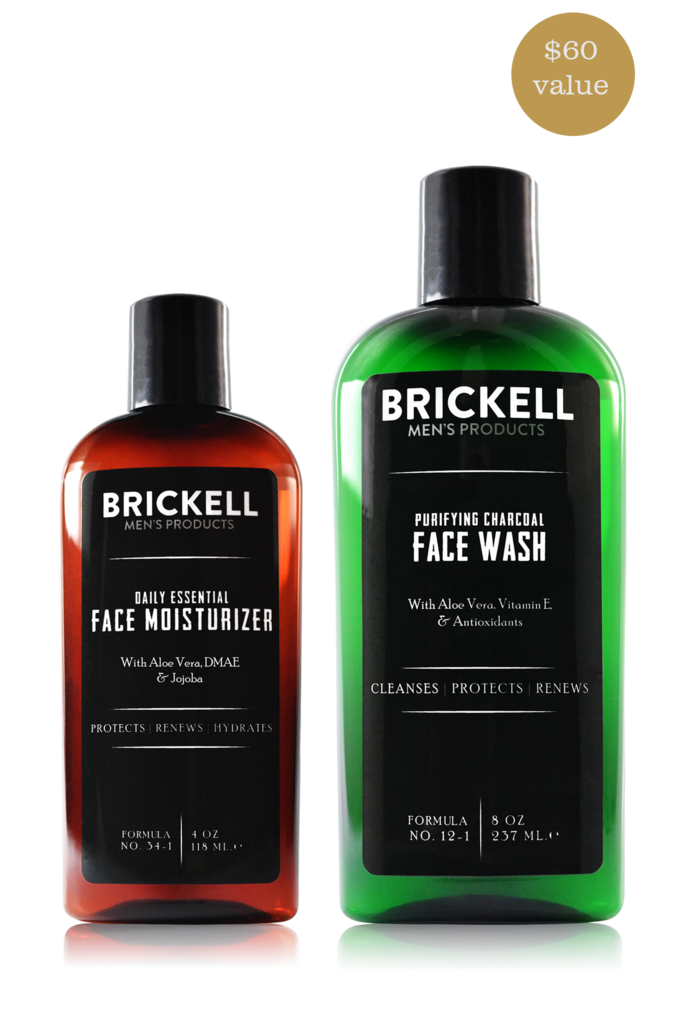 Brickell Men's Daily Essential Face Care Routine